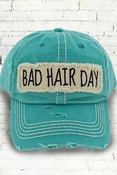ee34d2089ad422 Bad Hair Day Faded Teal Vintage Distressed Trendy Trucker Hat #Unbranded # Trucker #Summertime