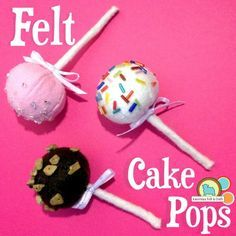 tutorial for felt cake pops from AMERICAN FELT