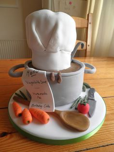 chefs hat saucepan birthday cake by truly scrumptious cakes by Lynn, via Flickr