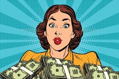 Find Retro Girl Money Pop Art Vector stock images in HD and millions of other royalty-free stock photos, illustrations and vectors in the Shutterstock collection. Thousands of new, high-quality pictures added every day. Make Money Online, How To Make Money, Desenho Pop Art, Retro Girls, Simple Business Cards, Living On A Budget, Lots Of Money, Comics Girls, Vintage Colors