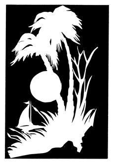 Uploaded by user. Drawing Stencils, Stencil Art, Cute Easy Drawings, Colorful Drawings, Stencil Patterns, Stencil Designs, Bird Silhouette Art, Art Deco Borders, Black Paper Drawing
