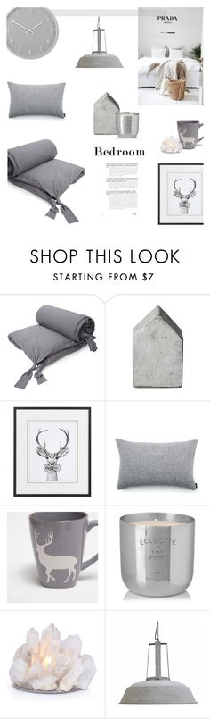 """""""GREY BEDROOM"""" by canvas-moods ❤ liked on Polyvore featuring interior, interiors, interior design, home, home decor, interior decorating, French Connection, Elvang, Zara Home and Tom Dixon"""