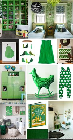 Inspiration Archives | The Moon - love the green, would like it with a light grey wall