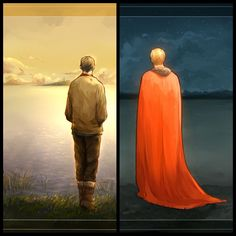 Merlin and Arthur waiting for each other :(