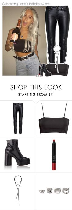 """""""Celebrating Lottie's birthday w/ her"""" by amberamelia-123 ❤ liked on Polyvore featuring Yves Saint Laurent, H&M, Marc Jacobs, NARS Cosmetics, Bølo and Forever 21"""