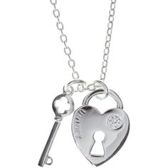 Sterling silver lock and key pendant necklace ($13) ❤ liked on Polyvore featuring jewelry, necklaces, accessories, colares, bijoux, women's clothing, lock necklace, sterling silver lock necklace, engraved necklace pendants and lock pendant