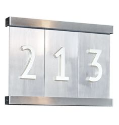 Aluminum Tile House Numbers 3,4, or 5 Tiles with Bracket C5600