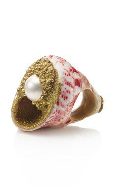 Mesi Jilly Mabe Pearl Conch Ring at Moda Operandi