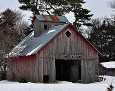 .faded red barn..