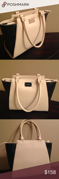 """NINE WEST- TOASTED OAT COLOR- HANDBAG Authentic NINE WEST Handbag, beautiful and brand new toasted oat color detail of Black/ Cream as seen in the above pictures. Spacious with classic black lining and measures H-9,5"""".  L-15,5"""".  W-5,5"""". Nine West Bags Shoulder Bags"""