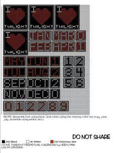 I LOVE TWILIGHT PERPETUAL CALENDAR by HEIDI LYNN*LW PC DESIGNS