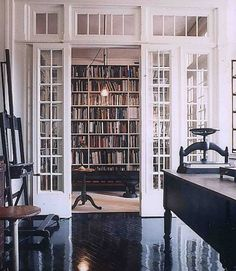 My husband would LOVE this library!