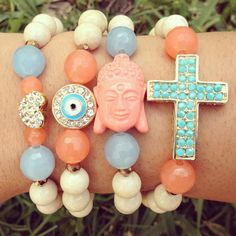 Love. Protect. Faith. Stack-EM available on beadingwithameaning.com
