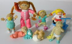 7 Cabbage Patch Kids PVC Miniature Figures 5 Are From 1984 #CabbagePatchKids #PVCFigures