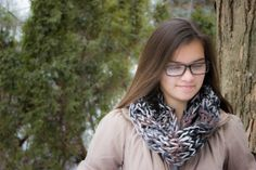 Hand Knitted Infinity Scarf by Calere, $29.00