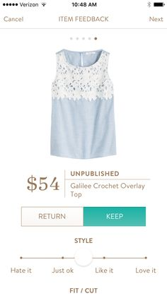 Unpublished- Galilee Crochet Overlay Top. One of the cute spring tops from Stitch FIx.  Try it out for yourself!  https://www.stitchfix.com/referral/5198264