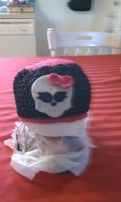 Selena's monster high crochet hat.