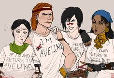 Soccer mom of Kirkwall, everybody.   Also: Hawke, your inner demon is showing again.