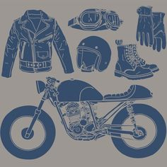 #illustration #design #motorcycles #motos | caferacerpasion.com ALWAYS LOVE MONO COLOR SIMPLE ILLUSTRATIONS