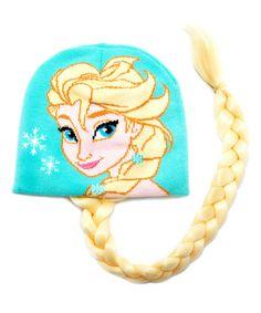 Look what I found on #zulily! Frozen Elsa Braid Beanie - Girls #zulilyfinds