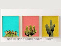 Cactus Set 16x2O SALE Cactus Art Cactus Download