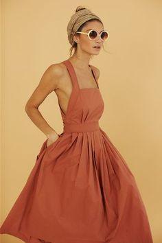0bafba510a6 La parfaite robe bain de soleil à bretelles Rust Orange Dress