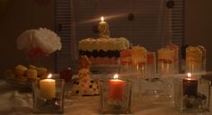 Neapolitan cake theme table