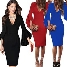 Elegant Ladies' V-Neck Fashion Celebrity Pencil Dress.  http://crwd.fr/2CBtqQr  #fashion #style #stylish #love #me #cute #photooftheday #nails #hair #beauty #beautiful #instagood #pretty #swag #shevaliyo #accessories #clothes #girl #girls #eyes #design #model #dress #shoes #heels #dress #styles #outfit #purse #jewelry #shopping