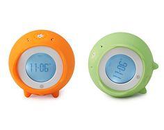 An alarm clock that rolls in the floor.