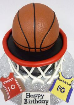 Basketball Hoop Birthday Thanks to so many of you on here for this great idea. For twin 10 year old boys who wanted a basketball themed. Soccer Boys, Basketball Hoop, Basketball Cakes, Basketball Birthday, Birthday Thanks, Boy Birthday, Birthday Cakes, Fondant Cakes, Cupcake Cakes