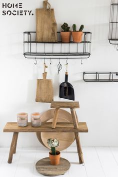 Kitchen Keeps - Home Society. Floating Shelves, Kitchen, Home Decor, Cooking, Decoration Home, Room Decor, Wall Storage Shelves, Kitchens, Cuisine
