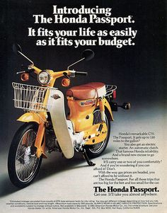 Honda C70 Passport ad. Flickr - Photo Sharing!