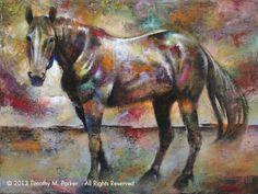 "Abstract Horse Painting, Contemporary Art, ""Ralph"" Artist Tim Parker - Art2D Gallery, Modern Art Original Paintings and Fine Art Prints"