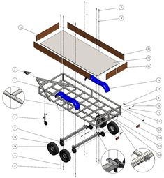 How to build a welding trailer with this detailed step by step assembly guide. Trailer Plans, Trailer Build, Welding Trailer, Welding Projects, Trailers, Building, Products, Little Cottages, Hang Tags