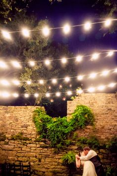 Such a #romantic #weddingshot of the #brideandgroom. We love the #warmth of #stringlights at #night for an #outdoor #reception. ::Jennifer + Michael's lovely tiffany blue wedding at the Mill at Fine Creek in Powhatan, Virginia:: #virginiaweddings #powhatanvirginia #themill #prettylights #weddingphotography #olascouple