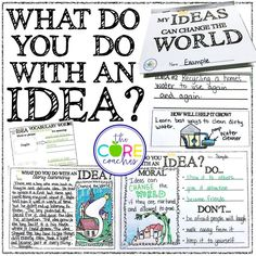 "Lots of writing response-to-text activities for the popular story by Kobi Yamada, ""What Do you Do with an Idea?"""