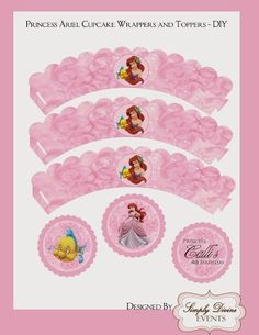 Little Mermaid Free Printable Wrappers and Toppers.