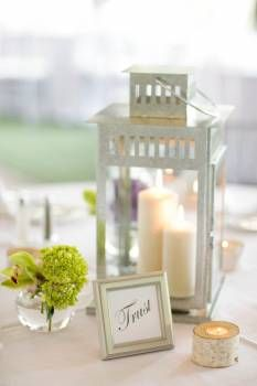 "16 Lanterns - Wedding Decoration - $160.00. (I'm sure I can find them cheaper, though) oh my this is perfect! I love the table labels "" trust, peace, joy, etc."" :) on guest tables only"