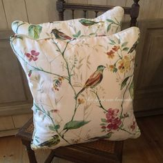 Lovely bird pillow available in shop....by Silvia Hokke