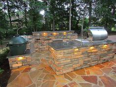 Webster Landscaping outdoor kitchen