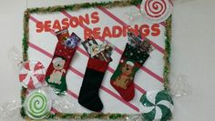 Christmas bulletin board..paper plate candy!