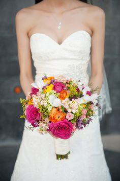 A Modern Wedding with Bright + Bold Colors | Austin + Angelia - www.theperfectpalette - Color Ideas for Weddings + Parties