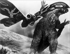 Mothra vs. Godzilla - watched all the Japanese horror movies with my dad from the time I was really little!