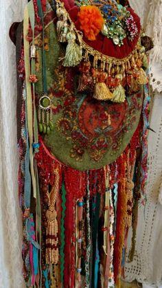 Wow! hecho A Mano Ibiza Festival Bolsa Gitano Hippie Boho flecos de joyería Cartera tmyers