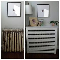 We can customize our radiator covers to be just what you envisioned!  This is our Manhattan style with horizontal slats and no upper vents!