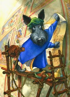 Scottish Terrier as Giotto painting the Arena by danielpowers, $55.00