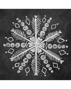How to Draw 3 Snowflakes for a Holiday Chalk-Art Sign snowflake chalk art Chalkboard Doodles, Chalkboard Drawings, Chalkboard Lettering, Chalkboard Designs, Chalk Drawings, Chalkboard Paint, Christmas Chalkboard Art, Chalk Wall, Sidewalk Chalk Art