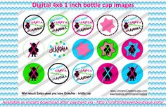 """1"""" Bottle Caps who needs santa 4 x 6 bottle cap Christmas bottle cap images #Christmas #xmas #bottlecap #BCI #shrinkydinkimages #bowcenters #hairbows #bowmaking #ironon #printables #printyourself #digitaltransfer #doityourself #transfer #ribbongraphics #ribbon #shirtprint #tshirt #digitalart #diy #digital #graphicdesign please purchase via link  http://craftinheavenboutique.com/index.php?main_page=index&cPath=323_533_42_56"""