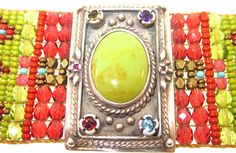 icejewelry.com - Chili Rose  Green Diana Bracelet, $1,325.00 (http://www.icejewelry.com/chili-rose-green-diana-bracelet/)