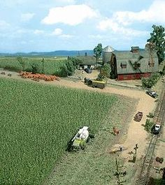 Busch Gmbh Corn Field - Kit - 10 x 10cm -- HO-Scale Model Railroad Grass Earth -- #1202